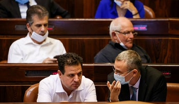 Joint List Chairman Ayman Odeh at the Knesset on Thursday.