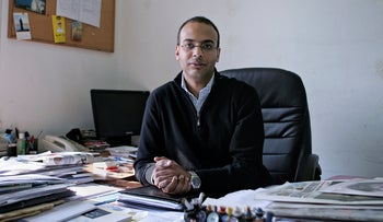 Hossam Bahgat in his office at the Egyptian Initiative for Personal Rights in Cairo, Egypt, in 2011.