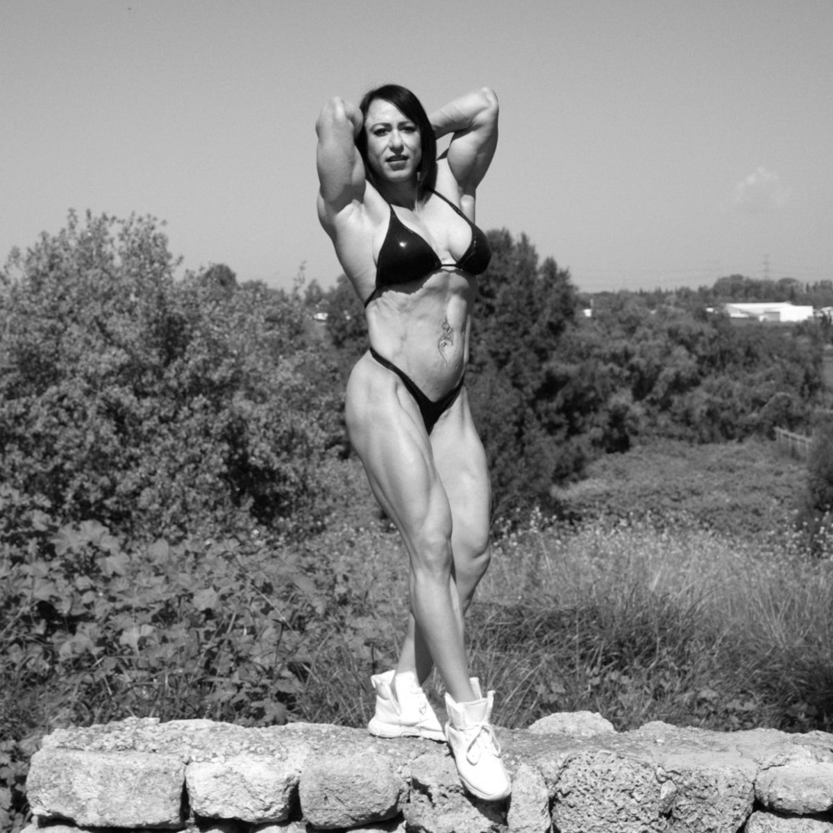 Israeli bodybuilder Hagit Seindlis. 'I was always the youngest and shortest in the class.'