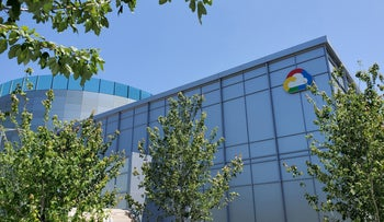A Google Cloud logo outside of the Google Cloud computing unit's headquarters in Sunnyvale, Calif.