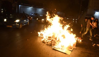 Civil disturbances in Nazareth in May, during the war that Israel fought against Hamas in the Gaza Strip.