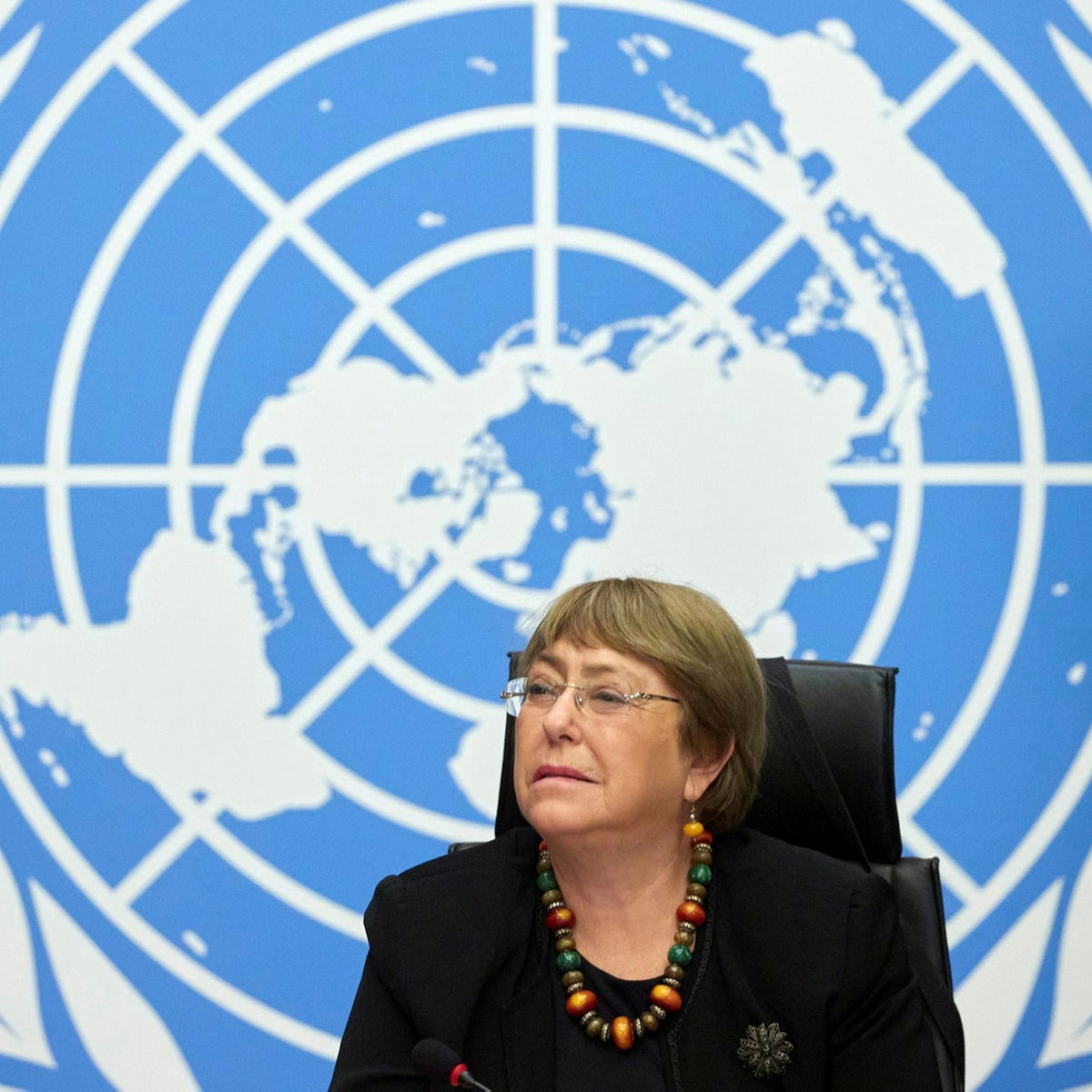 Michele Bachelet, UN Commissioner for Human Rights, in Geneva last year.