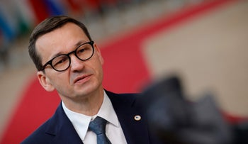 Polish Prime Minister Mateusz Morawiecki at The European Council Building in Brussels in June.