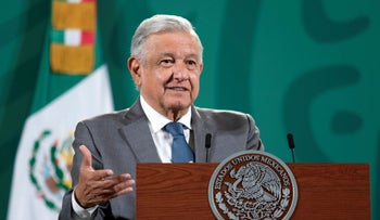 Mexican President Andres Manuel Lopez Obrador speaks during a news conference in Mexico City, last week.