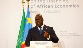 President of the African Union Félix Tshisekedi, in France, in May.
