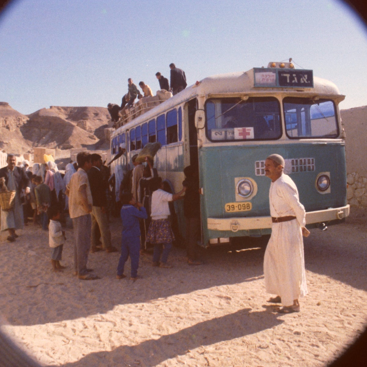 The Red Cross visit the Abu Zenima camp in October, 1971.