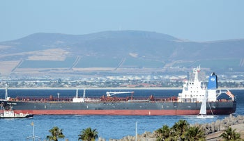 M/T Mercer Street ship near Cape Town, South Africa in 2016.