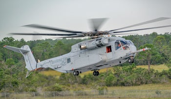 The Lockheed Martin CH-53K helicopter