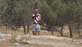 The settler shooting at Palestinians in June.