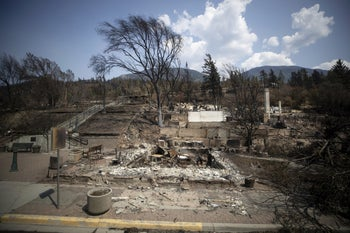 The aftermath of a recent wildfire in Canada.