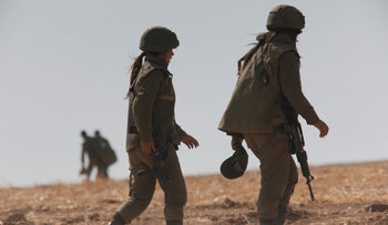 Combat soldiers around the Gaza border during the recent round of hostilities between Israel and Hamas, three months ago.