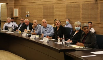 The Knesset's Foreign Affairs and Defense committee convening, in June.