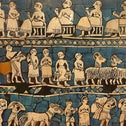 The peoples of the Middle East: 'Peace panel' from the Sumerian city of Ur.