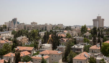Houses in the Rehavia neighborhood of Jerusalem. The land was leased to the JNF from the Greek Orthodox and Catholic churches about 70 years ago.