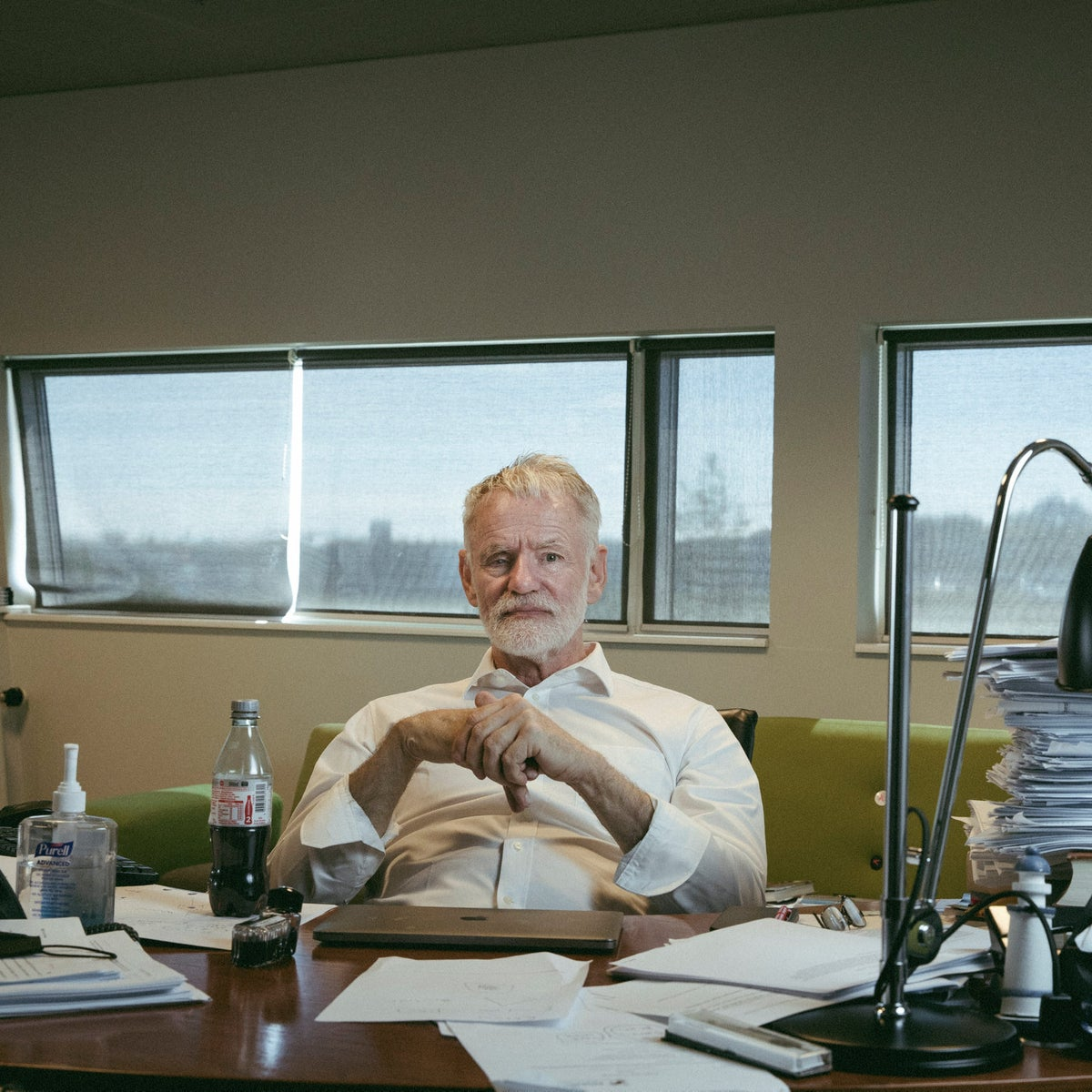 Stefansson, in his office.