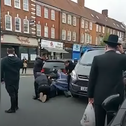 A still from a video capturing the assault of a Jewish man in London in May.