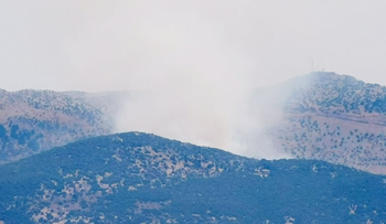 Smoke rises after an IDF strike in south Lebanon, earlier today