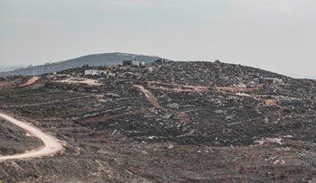The Yitzhar area in the West Bank, in October, 2019.