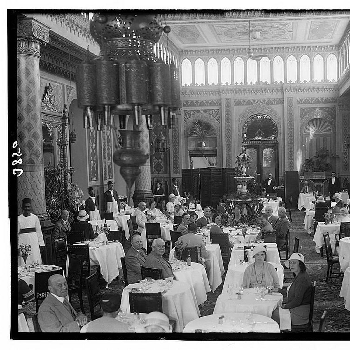 Guests at the Shepheard's Hotel In Cairo, Egypt, in 1920.