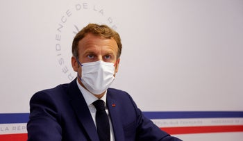 President Macron at a conference in France last week.