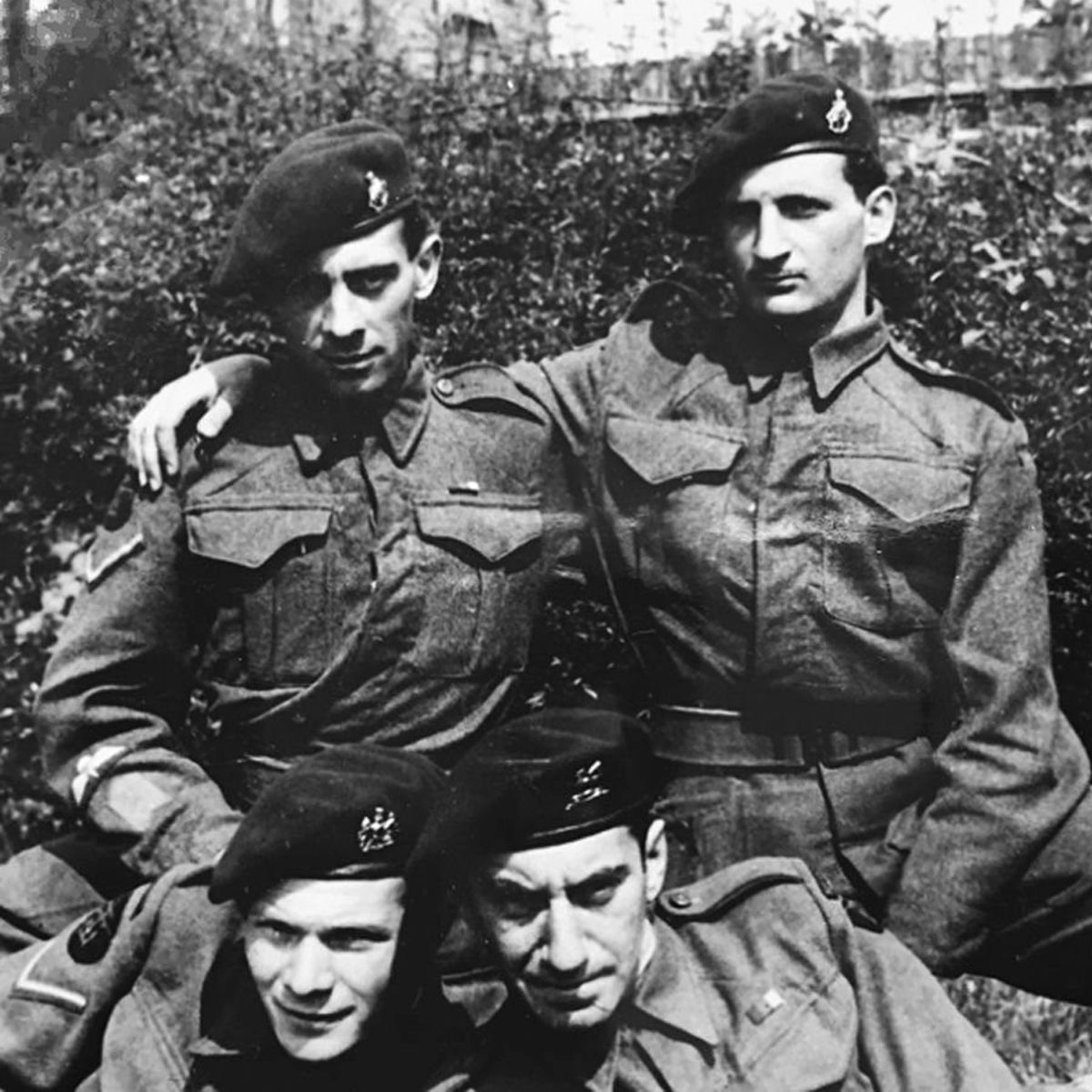 X Troopers Maurice Latimer, Tommy Swinton, Oscar O'Neill and Manfred Gans, 1943.
