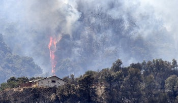 Fire in Kabylie, east of Algiers, on August 11, 2021 - which Algeria blamed on Morocco and Israel
