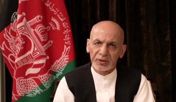 A recorded video message on the Facebook page of former Afghan president Ashraf Ghani on Wednesday.