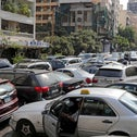 Lebanese wait in line at a gas station in Beirut on Friday.