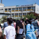 Students getting tested for COVID at a school in Binyamina in June.