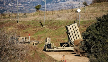 Iron Dome anti-missile system is seen near the border area between Israel and Syria, in the Golan Heights, last year.