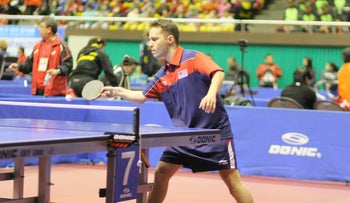 Israeli-born table tennis player Tahl Leibovitz competes for the U.S. team at the 2012 Paralympic Games in London.