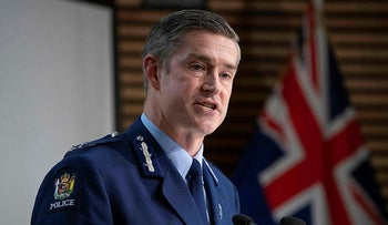 New Zealand's Commissioner of Police Andrew Coster, August 2021.