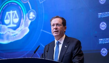 Israeli President Isaac Herzog at a conference in Israel this week.