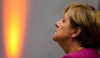 German Chancellor Angela Merkel attends an event of the Christian Democratic Union (CDU) to present a program on the future digital policy for the country at the party's headquarters in Berlin on September 6, 2021