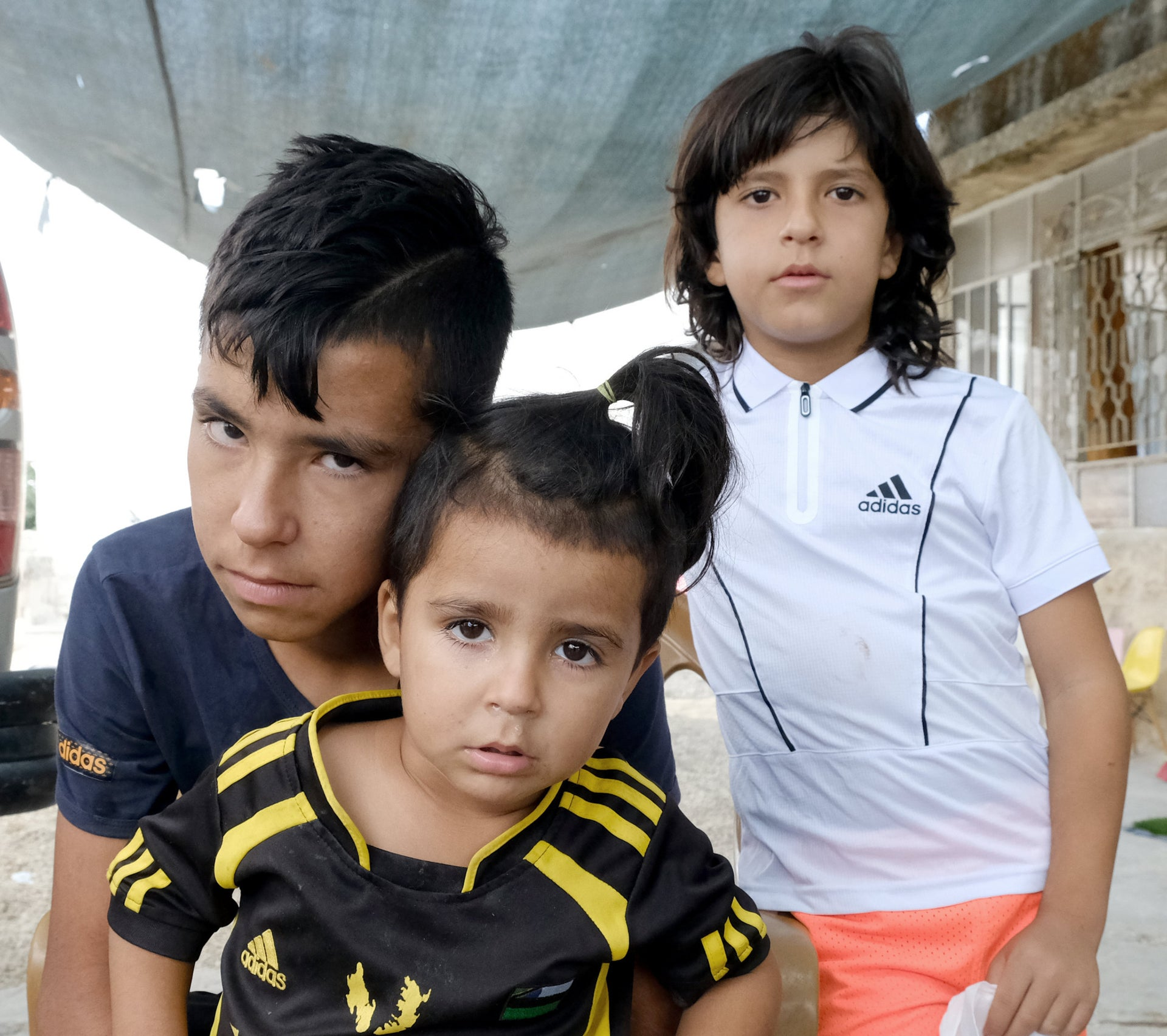 Three of Raed Jidallah's four children: Youssef, Mohammed and Amir.