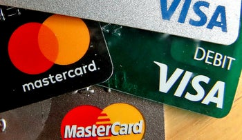 File photo: Credit cards in the United States.