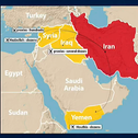 Distribution of drones to Iranian proxies across the Middle East.