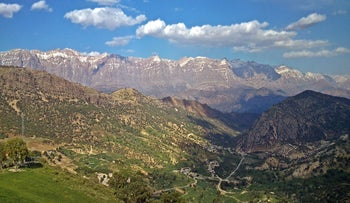 The Zagros Mountains in Iran.