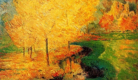 """""""By the Stream, Autumn"""", פול גוגן, 1885"""