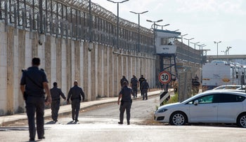 The site where the escapees emerged from GIlboa Prison, last week.
