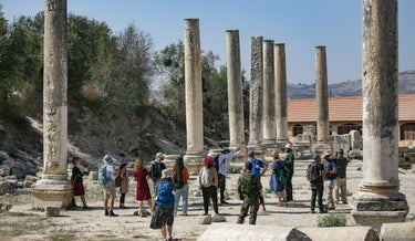 The archaeological site at Sebastia. The site is in Area C, but all the surrounding facilities lie in Area B.