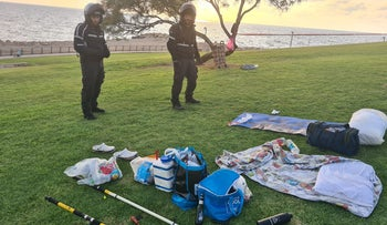 The scene of the stabbing in Jaffa, today.