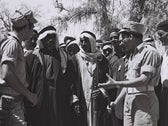 Bedouin Arabs outside the military governor's office in Be'er Sheva in 1950. The clan-based hierarchy worked to the benefit of Jewish authorities.