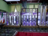 New generation Iranian centrifuges on display during Iran's National Nuclear Energy Day in Tehran, April