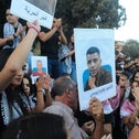 A demonstration in support of Palestinian inmates who escaped from prison, Nazareth, last week.