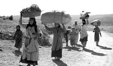 Palestinian refugees during Israel's War of Independence.