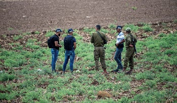 Israeli security forces during the manhunt for escaped Palestinian prisoners