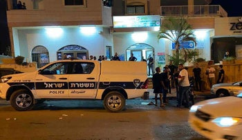 Police forces in Taibeh, in central Israel, Saturday night.