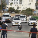 Forces as the scene in Nahariya, on Tuesday.