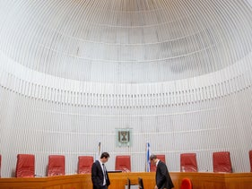 The Supreme Court in Jerusalem. Where are the women?